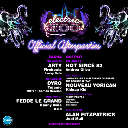 Electric Zoo NY Afterparties
