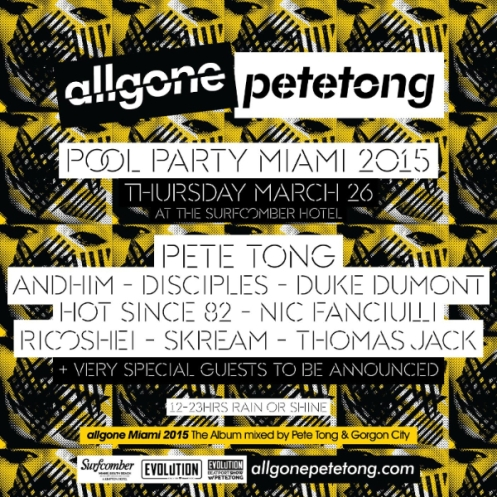All Gone Miami Pool Party  Thursday March 26 at the Surfcomber Hotel